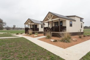 Front corner view of By the River Cabins