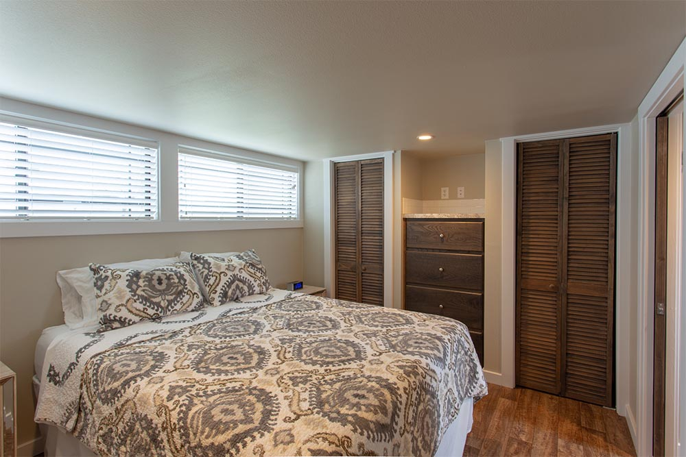 Side view of Master Bedroom of By The River Cabins