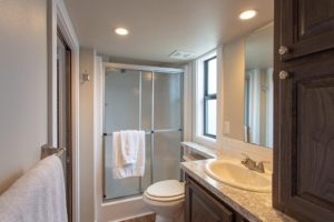Shower in Master Bath of By the River Cabins